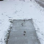 Snowy sidewalk