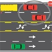 School bus traffic