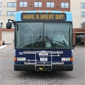 Bus with text Have a great day