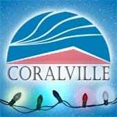 Coralville logo with lights