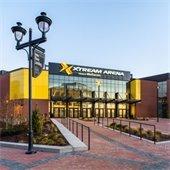 Xtream Arena exterior. Credit: Mortenson