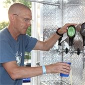 Man pouring beverage
