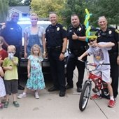 Kids and police officers