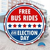 Free bus rides on Election Day