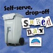 Self-serve drop off shred day