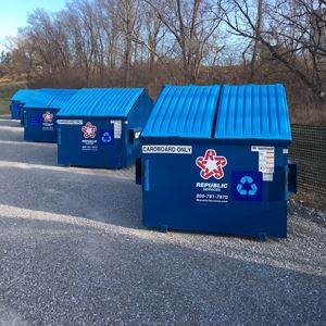 Drop off recycling containers