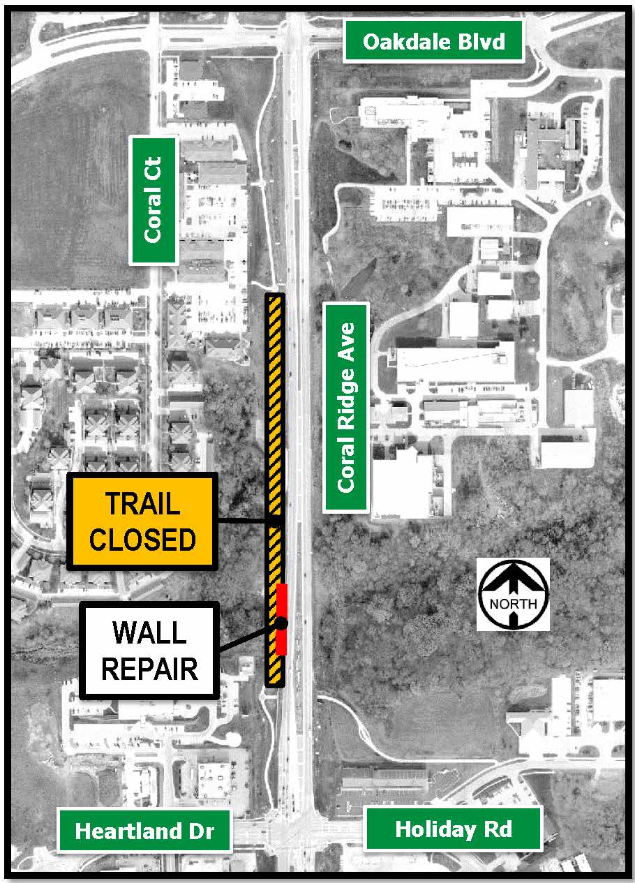 Coral Ridge Ave trail closure