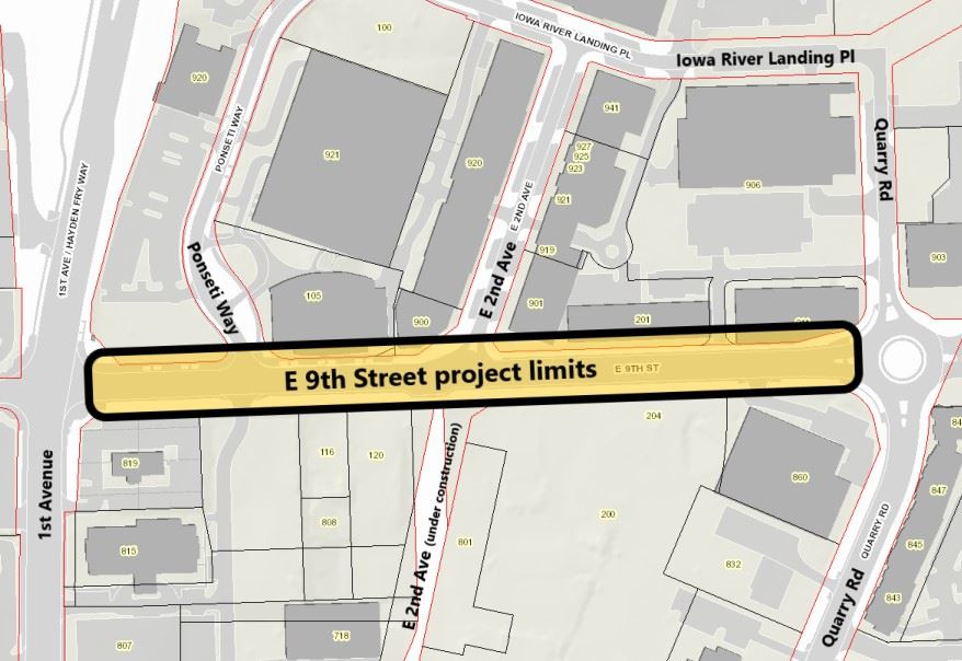 E 9th St Project Limits 1st Ave to Quarry Rd