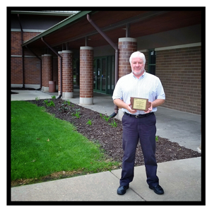 City Engineer Dan Holderness with 2015 ACEC Iowa Award
